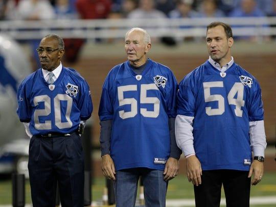 Nov. 9, 2008: Former Detroit Lions players Lem Barney