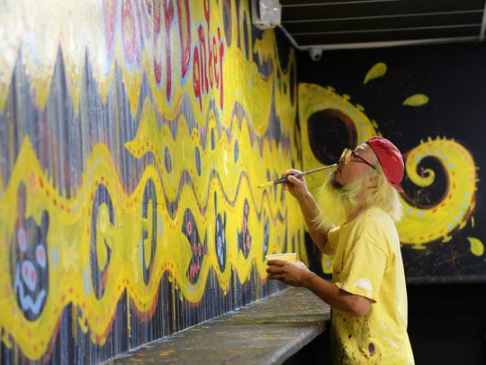 Peelander-Yellow finished the mural inside Cape Coral's Danger, Danger in just a couple of days.
