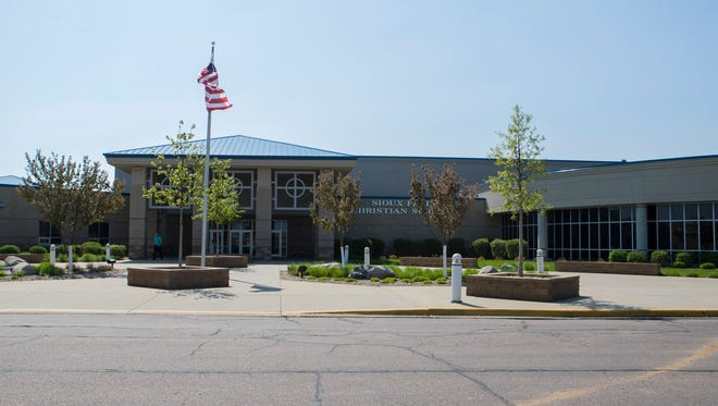 Sioux Falls Christian Schools building mug in Sioux Falls, S.D. on Tuesday, May 22, 2018.
