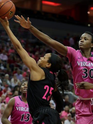 Louisville's Asia Durr gets past Virginia's Felicia