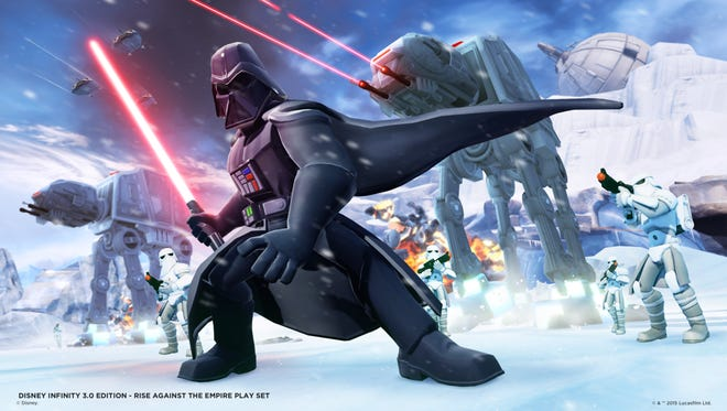 Darth Vader in a scene from the Disney Infinity 3.0 expansion 'Rise Against the Empire.'