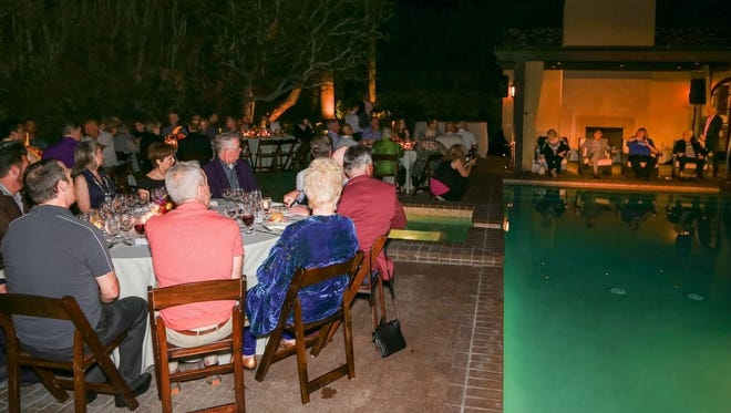 Executive Director Mark Anton welcomes guests before dinner.