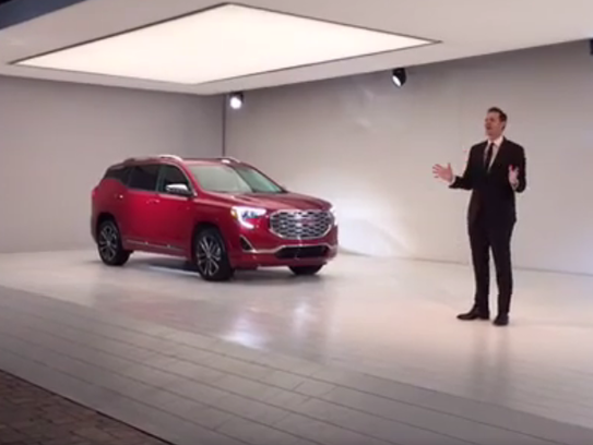 The GMC Terrain is revealed at an event for the Detroit