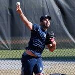Justin Verlander throws in Lakeland