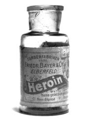 In 1898, Bayer released heroin to treat coughs and other health woes. Soon, many people became addicted to the narcotic, which was eventually banned.