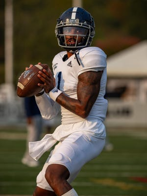 Georgia Southern quarterback Shai Werts and the Eagles defeated ULM 35-30 on Oct. 3 in Monroe, Louisiana.