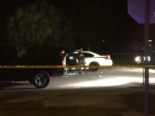 Martin County Sheriff's deputies on the scene of the officer-involved shooting.