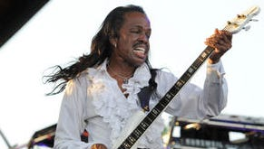 Earth, Wind & Fire's Verdine White performs at White River State Park in a 2011 concert.