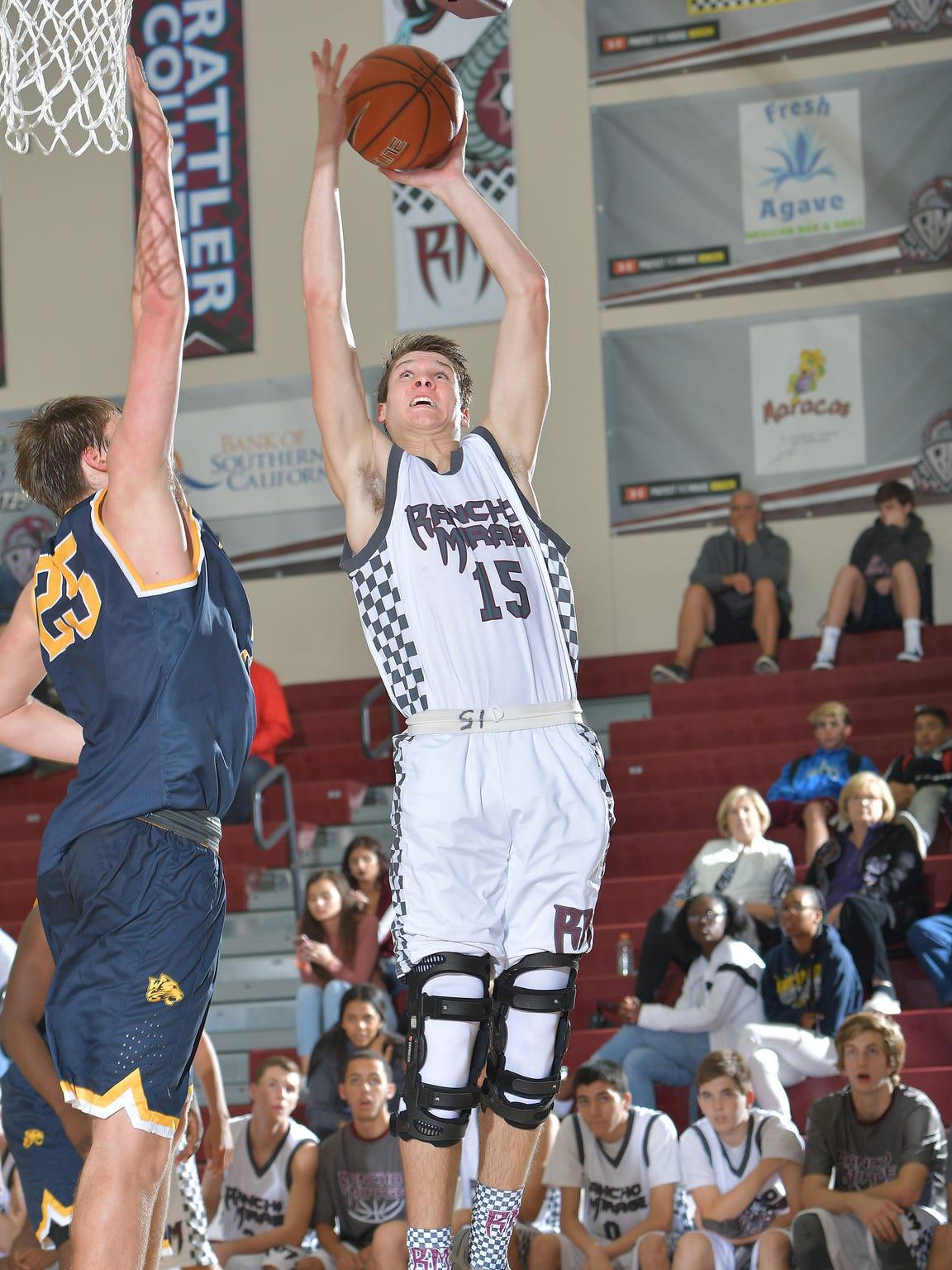 Rancho Mirage junior Bryan Talley goes up for a tough