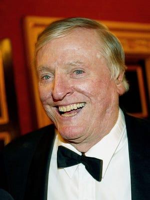 Writer William F. Buckley attends the Living Landmarks gala November 6, 2002 ,in New York City.