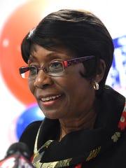Shreveport Mayor Ollie Tyler speaks at her re-election
