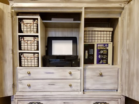 Antique Armoire Coffee Bar