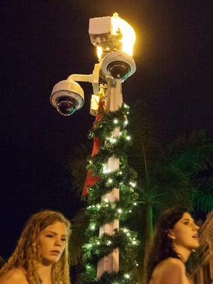 New security cameras were in use Thursday during the New Year's Eve celebration in downtown Fort Myers.