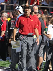 Iowa State Cyclones head coach Matt Campbell on the