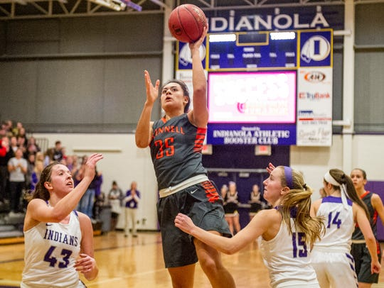 The Indianola girls basketball team hosted Grinnell