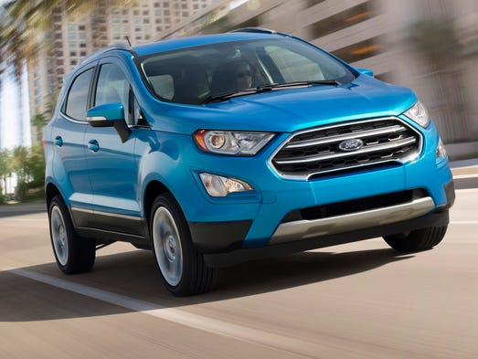 Fords new EcoSport SUV will be imported from India