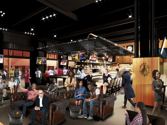 A rendering of the interior of Kid Rock's Made in Detroit