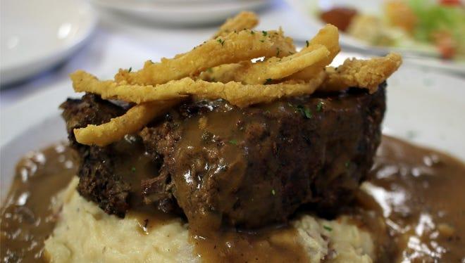 Cajun meatloaf prepared by Crescent City Bistro's Chef Darrell Johnson.