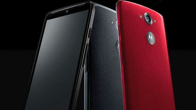 The Verizon Motorola Droid Turbo comes with several options for the back cover, including ballistic nylon.