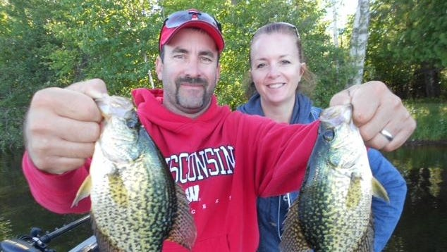 Brent and Bonnie Jacobson from Mauston fished with guide Jeff Evans in September 2014.