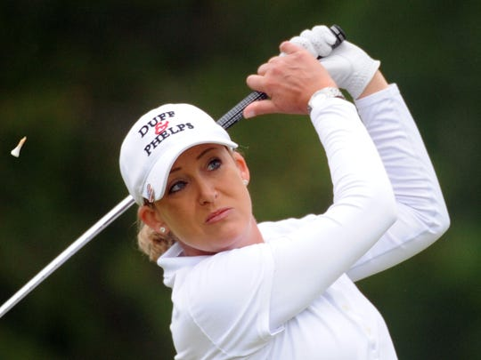 Cristie Kerr hits her drive on the third hole during the final round of the Manulife Financial LPGA Classic in June.