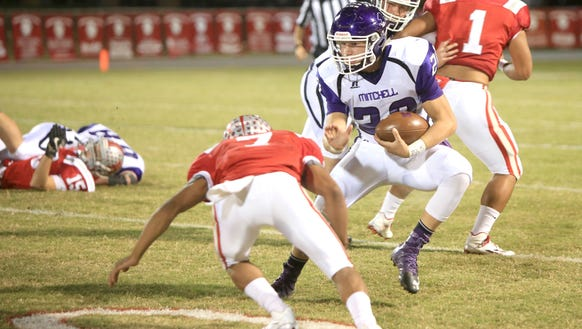 Mitchell's Ben Young had 301 yards of offense and three