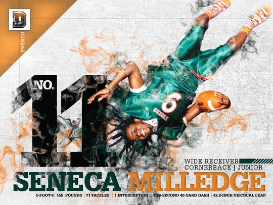 Dunbar receiver/defensive back Seneca Milledge de-committed from North Carolina State last year.