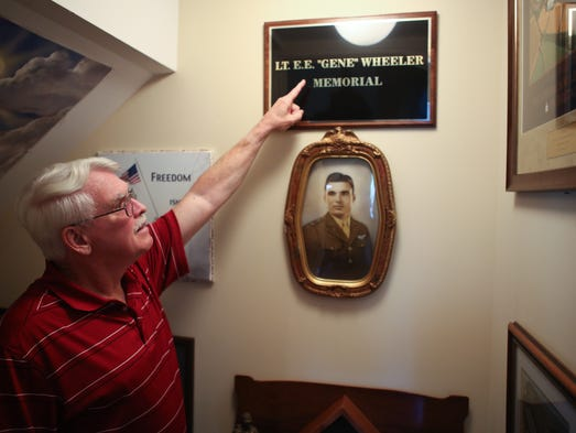 Jim Wheeler, whose father's death sparked an interest in WWII, and Jim has accumulated a vast WWII collection in his basement. May 23, 2014