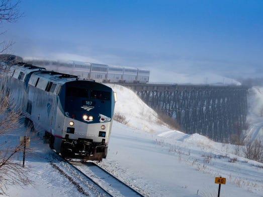 Train: Empire Builder.  Location: Traveling across