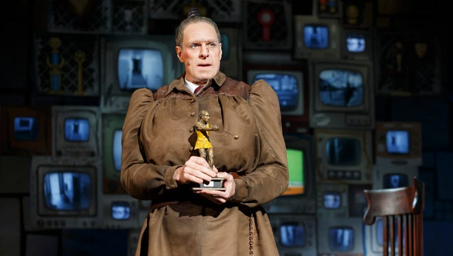 """Dan Chameroy plays Miss Trunchbull in the national tour of """"Matilda the Musical."""""""