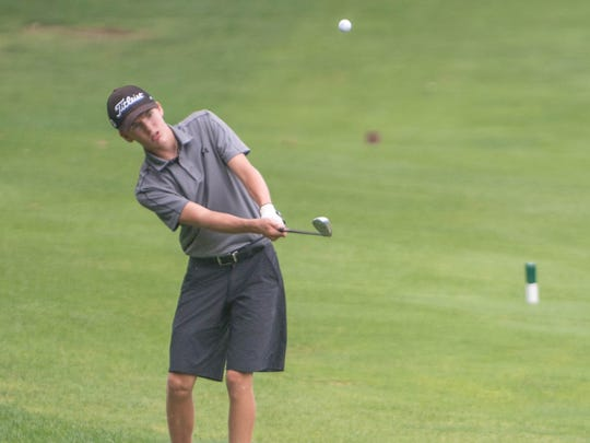 Landon Saxton, 15, during the Optimist Junior Tournament at Binder Park Golf Course on Tuesday.