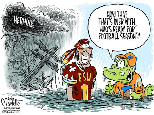 Hermine cartoon by Andy Marlette
