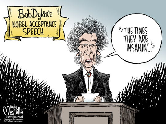 Dylan cartoon by Andy Marlette