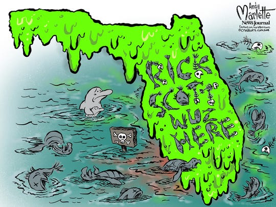 Gov. Scott really left his mark on Florida...