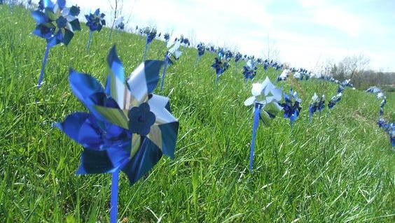 Blue pinwheels are spinning nationwide this April in observation of National Child Abuse Awareness and Prevention Month.