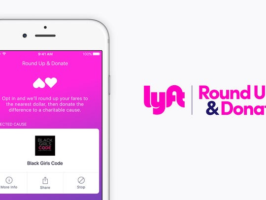 Lyft is offering riders the chance to round up fares