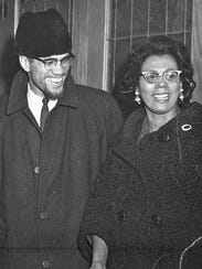 Connie Mitchell with Malcolm X in 1965.