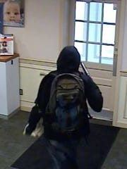 Suspect in the armed PNC Bank robbery in Carroll Valley on April 25.