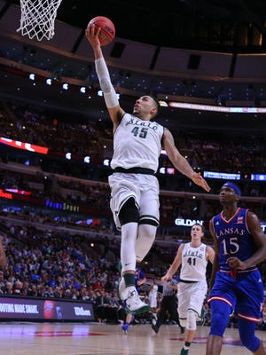 Will we see a rematch in the title game? MSU dispatched Kansas, 79-73, on November 17, 2015 in the Champions Classic in Chicago. Denzel Valentine had a career-high 29 points, 12 rebounds and 12 assists.