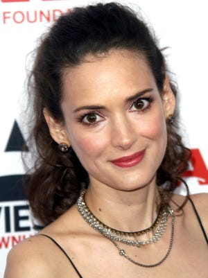 Winona Ryder attends the AARP's Movies For Grownups Awards gala in Beverly Hills on Feb. 10.