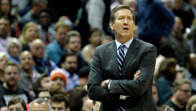 Knicks head coach Jeff Hornacek has gone through tough times with the Knicks this season. On Wednesday, Hornacek was part of a gathering of players from the Utah Jazz to celebrate the 1997 team.