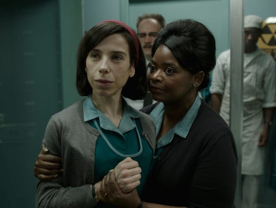 "Sally Hawkins and Octavia Spencer star as workers in a secret 1960s government facility in ""The Shape of Water."""