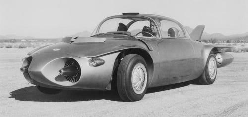 1956 GMC Firebird II Titanium is a concept vehicle