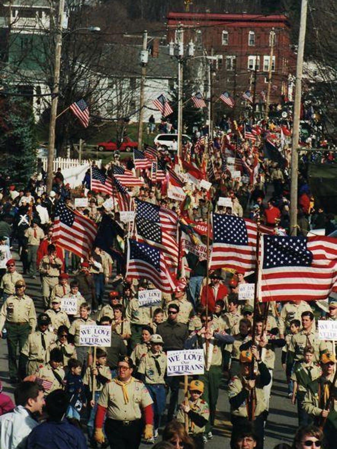 Veterans Day parade on Nov. 6, 1999.