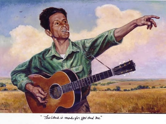"Beautiful thoughts by Woody Guthrie: ""There's a feeling"
