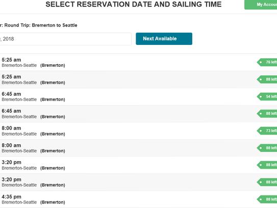 A screenshot of Kitsap Transit's website from Dec.