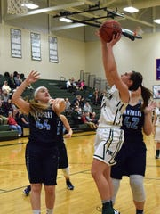 Wilson Memorial's Sam Kershner shoots over Page County's