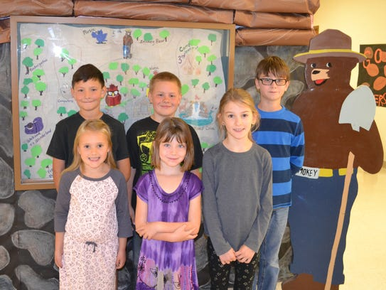 Elementary students: Back Row: Issac Kern - 3rd grade,