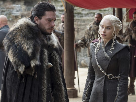 Jon Snow (Kit Harington), left, and Daenerys Targaryen (Emilia Clarke) both have come a long way since the start of HBO's 'Game of Thrones.'