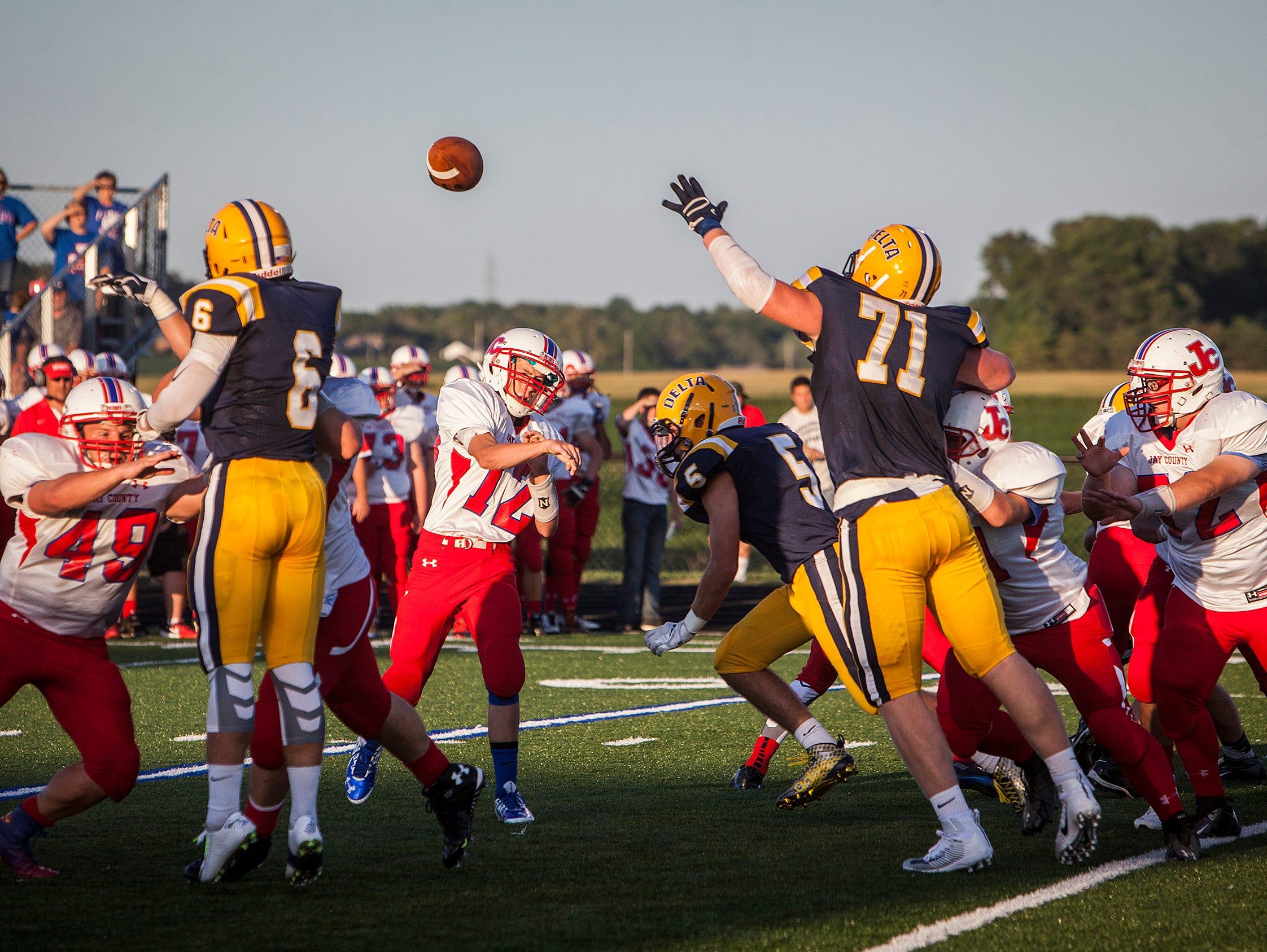 Delta defeats Jay County at Delta High School Friday evening. Kaleb Slaven Holton Hill Sam Williams